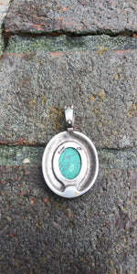 Vintage Sterling Pendant of Grounding