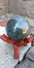 Load image into Gallery viewer, Labradorite Crystal Sphere (flashy)