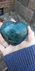 Blue Apatite crystal Heart