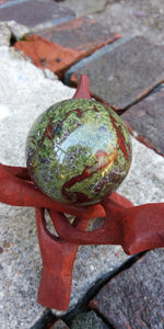 Dragons blood Jasper stone sphere