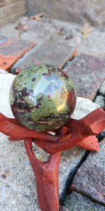 Dragons blood stone sphere