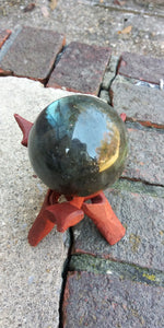 "Labrodorite crystal Sphere ""flashy"""