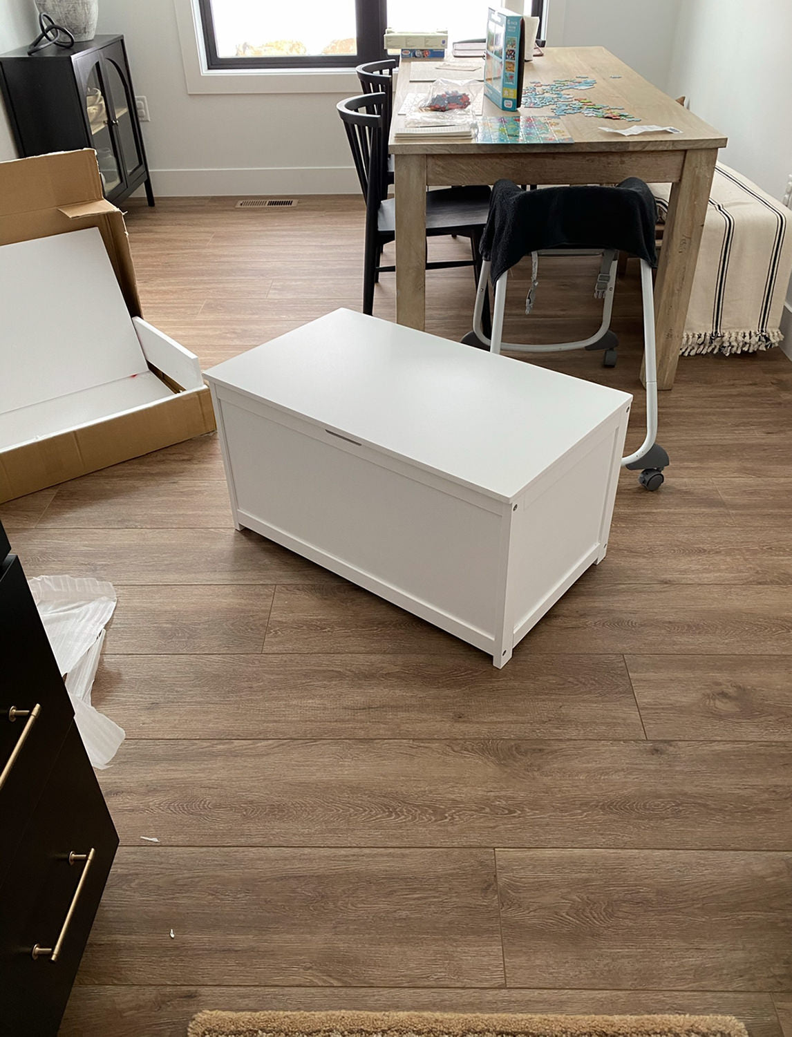Toy Box Built-In Dining Bench