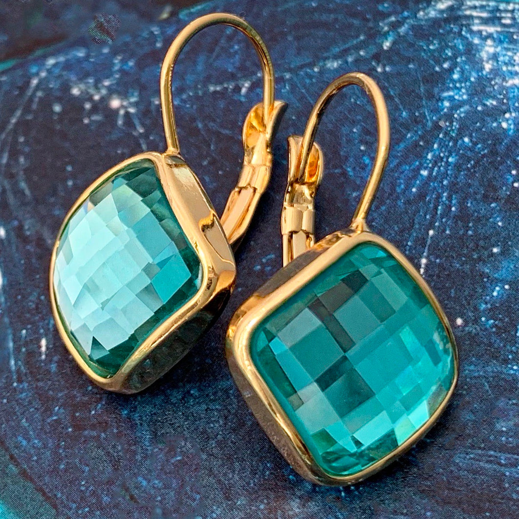 pixel crystal earrings