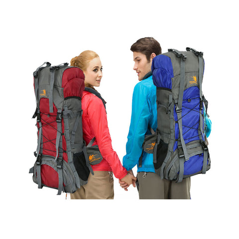 Zimtown 60L Waterproof Hiking Backpack, Camping Mountaineering Lightweight Rucksack, for Travel Climbing and Trekking Outdoor Sports