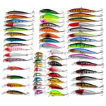 56 Pcs Mixed Minnow Fishing Lures