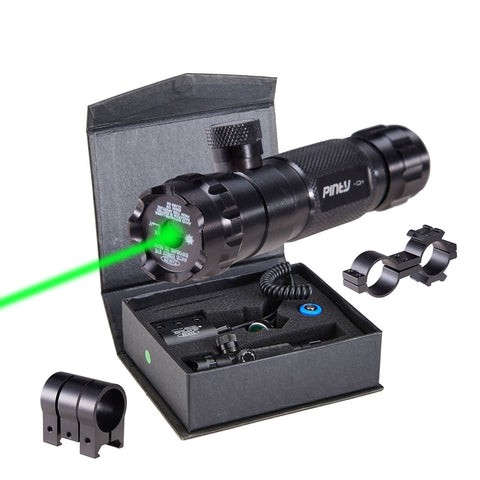 Hunting Rifle Green Laser Sight Dot Scope Adjustable with Mounts