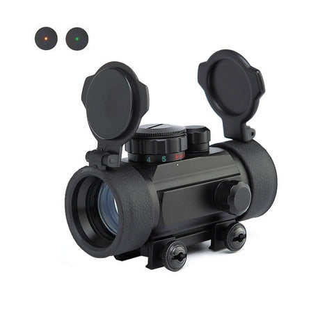 Hunting Paintball Army Telscope 1x30 Red Green Dot Telescopic Sight Scope for Weaver Mount