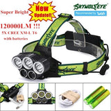 SKY WOLF EYE  T6 5x LED 120000Lm Waterproof 5000 MAh Battery