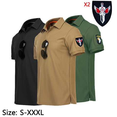 Male Short Sleeve Top Army Combat Tactical Shirt Military Men Hunting T-shirts