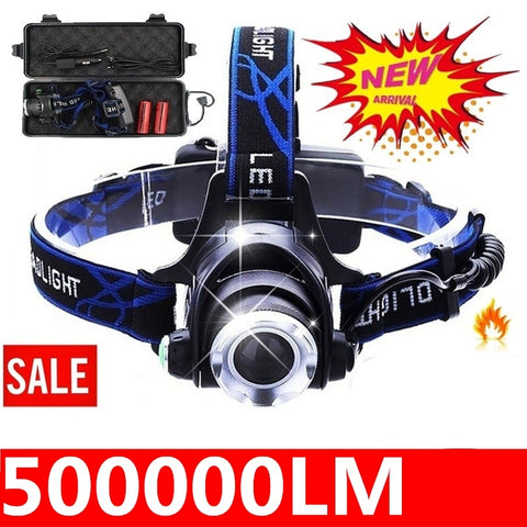 LED Headlight CREE T6/L2 led headlamp zoom