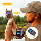 110lb/50kg Electronic Balance Digital Fishing  Scale with Measuring Tape