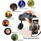 Extra Long  9800M/300000M Compass Flashlight+infrared Distance Night Vision High - Angle Monocular Telescope Laser Outdoor Hiking Travel Portable Telescope Fashion Accessories Tool