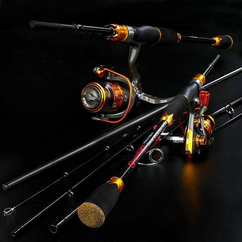 Spinning Combo Fishing Reel Rod with 4-Piece Fishing Rod and Spinning Reel Combo 5 Feet 10 Inch/6 Feet 10