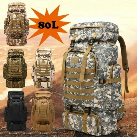 80L Large Capacity  Waterproof Backpack