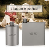 Lixada Titanium Wine Flask 200ml Lightweight Outdoor Portable Alcohol Drink Bottle Pot for Travel Camping Backpacking