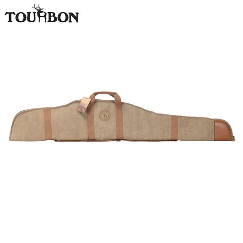 Tourbon Hunting Optical Sight Scoped Rifle Case Shooting Slip Thick Padded Fleece Canvas Gun Protection Bag Gun Accessories