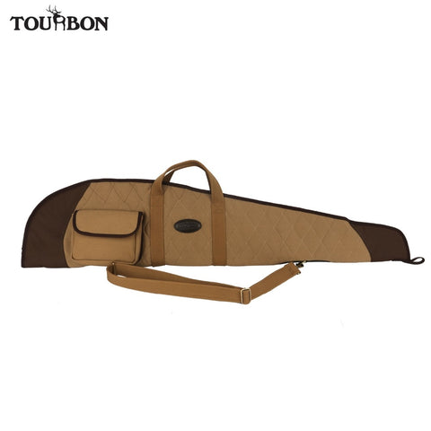Tourbon Hunting Rifle Gun Case Slip Optical Sight Scoped Cover Shooting Padded Fleece Canvas Gun Protection Bag Gun Accessories