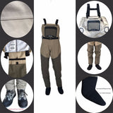 fishing waterproof Breathable Wear resisting Fast drying fly wader hunting wading pants foot ELUANSHI brand