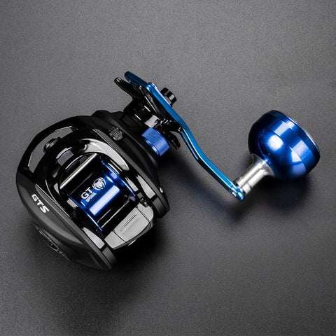 JITAI Baitcasting Fishing Reel Stainless Steel 12BBs 92MM Extended Handle Knob 8KG Carbon Fiber Drag Carretilha Coil Wheels