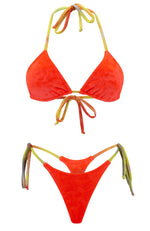 Jojo in Velvet Sunrise / Thong Bikini Set-Sets-Breezy Rack