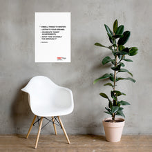 Load image into Gallery viewer, Olga Kotova | Minimal | White Poster