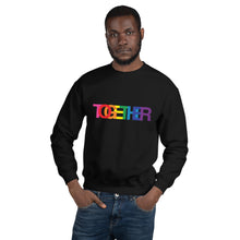Load image into Gallery viewer, TOGETHER | Rainbow | Black Unisex Sweatshirt