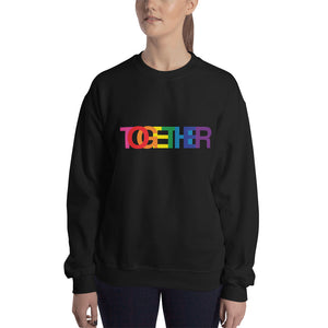 TOGETHER | Rainbow | Black Unisex Sweatshirt
