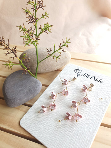 Cherry Blossom medium drop earrings