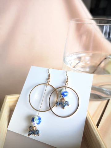 The Earth - Asymmetric Dangle Earrings