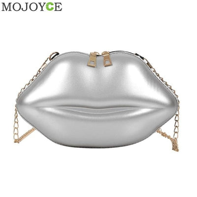 Lips Shape PVC Handbags Solid Zipper Shoulder Bag Crossbody Messenger Phone Coin Bag Evening Party Clutches Bolsas Feminina Saco