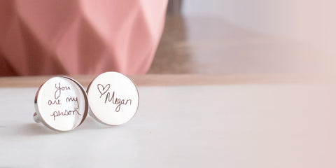 You Are My Person engraved cufflinks by Love Georgie