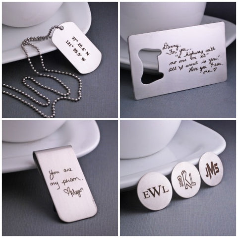 Custom Gifts for Men Personalized Bottle Openers Engraved Money Clips