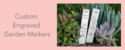 custom engraved garden markers from Love, Georgie