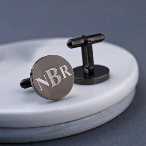 Personalized Gunmetal Latitude Longitude Cufflinks by Love Georgie.