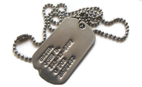 Authentic military issue dog tags - from Etsy