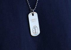 example of medical ID dog tag necklace - from American Medical ID dot com