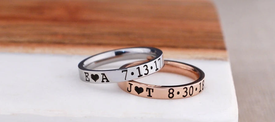 Personalized anniversary rings