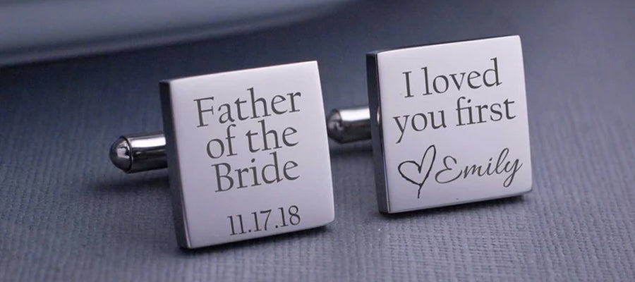 Cufflinks for the father of the bride