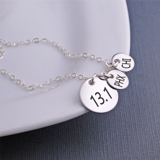 13.1 Half Marathon Necklace – Necklace – georgiedesigns