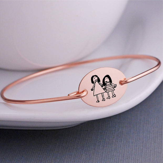 Child's Artwork Bangle Bracelet – bracelet – Love, Georgie