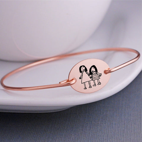 Child's Artwork Bangle Bracelet