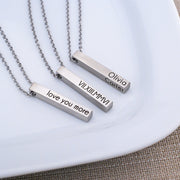 Design Your Own Custom Bar Necklace – Necklace – Love, Georgie