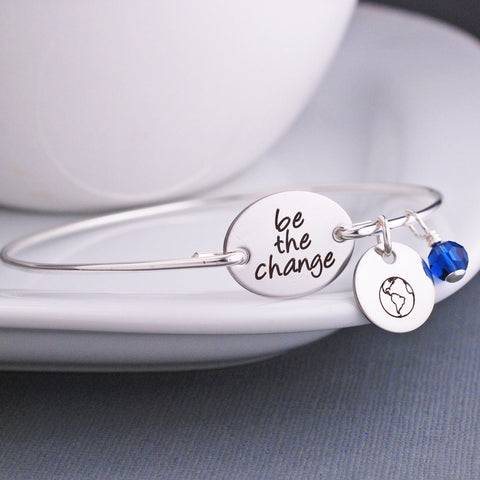 Be the Change Bracelet - Silver