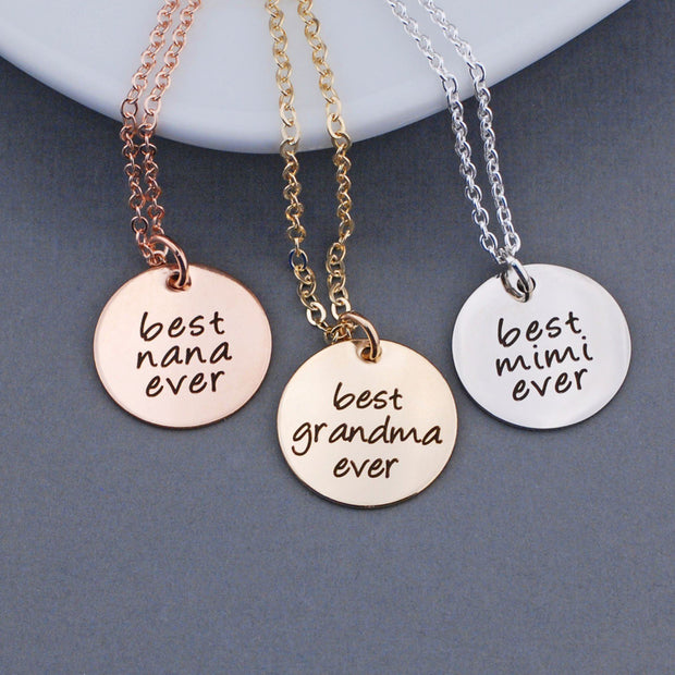 Design Your Own Necklace - 3/4 inch Round Pendant – Necklace – georgie designs personalized jewelry