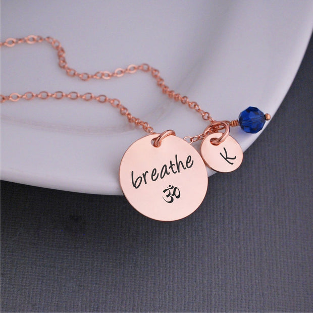 Breathe Om Necklace – Necklace – georgiedesigns