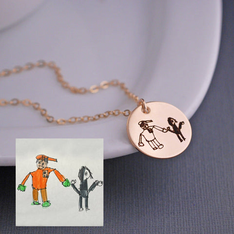 Child's Artwork - Gold Necklace