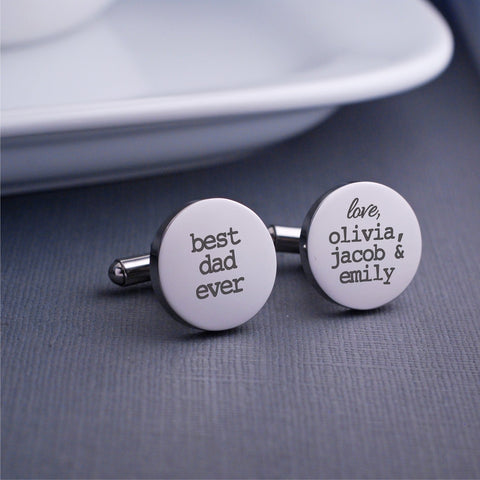 Best Dad Ever Cufflinks
