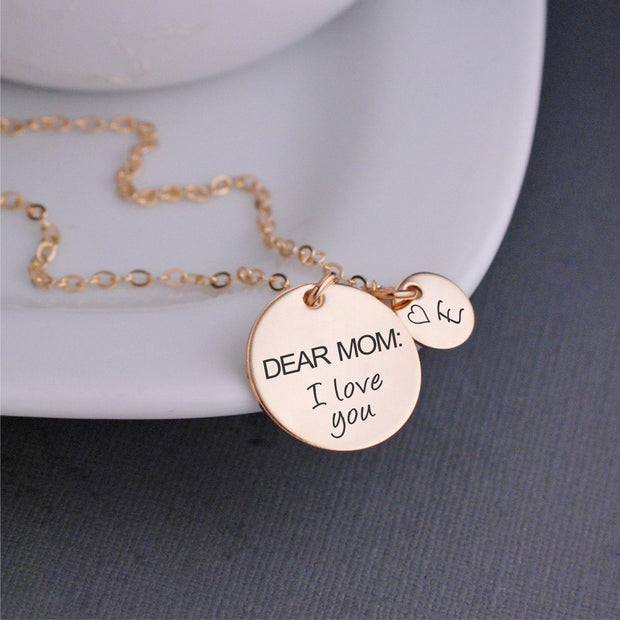 Dear Mom: I Love You Necklace – Necklace – georgiedesigns