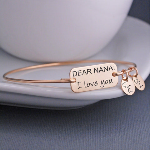 Dear Nana: I love you Bangle Bracelet